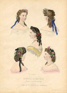 coiffures 1860