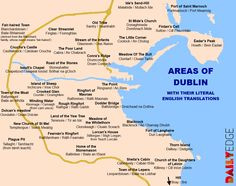 Areas of Dublin with their literal English Translations C/o thedailyedge.ie
