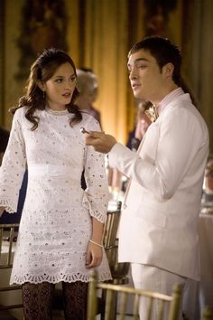 Blair Waldorf Outfit - Gossip Girl (The Wild Brunch) - white lace dress