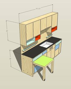 Plywood Kitchen, Plywood Cabinets, Plywood Furniture, Custom Furniture, Furniture Design, Kitchen Interior, Kitchen Design, Tiny Mobile House, Plywood Storage