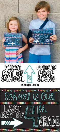 Last day of school photo prop signs. (matching first day ones also) So cute! Free Printable Gift Tags, Free Printable Calendar, Free Printables, Last Day Of School, School Days, Back To School, Picture Gifts, School Photos, Classroom Fun