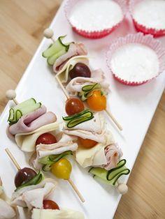 Deli Skewers. healthy party food