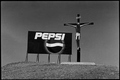Miscellaneous - ARGENTINA. Valdes Peninsula. 2001. - Anachronism, Argentina (all), CHRIST on the Cross, Exterior, Hill, Logo, Multi-national company, Name of place in caption, Pepsi Cola, Sign (advertising), Unusual