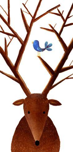 The last deer - Personal project by Carmen Saldana, via Behance