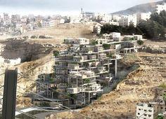 Honorable Mention in the 2018 eVolo Skyscraper competition: The Amman Living Quary by Jordan's Baraa Kawasmi,. Social Housing Architecture, Architecture Magazines, Arch Architecture, Tower Design, Design Art, Interior Design, Futuristic Art, Contemporary Architecture, Magazine Design