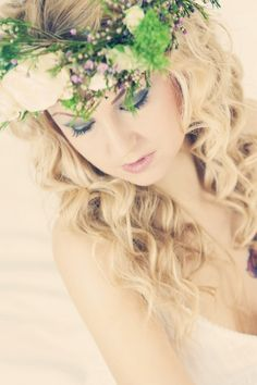 Flower crowns and eyelashes