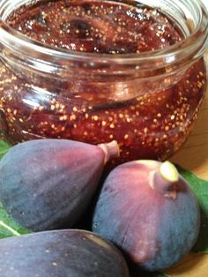 Easy Fig Jam recipe. This is tasty if you can beat the birds to your figs.