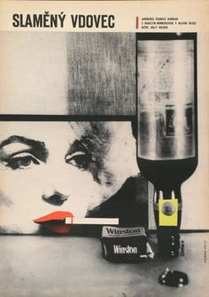 """Czech poster for Billy Wilder's comedy """"The Seven Year Itch"""" with Marilyn Monroe"""