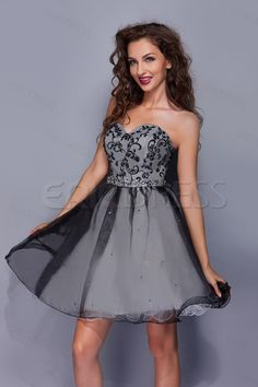Graceful A-Line Sweetheart Mini/Short-Length Ruffles Miriama's Prom Dress Junior Prom Dresses- ericdress.com 9654982