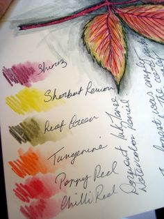 Tutorials of watercolor pencils, etc.