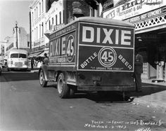 Dixie Brewery - Abandoned Photography at Opacity-Photo of a Dixie Brewery delivery truck in 1953; From: The Historic New Orleans