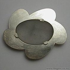 Kobi Bosshard - silver and glass brooch