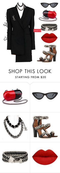 """#OOTD - Designer Heaux"" by adswil ❤ liked on Polyvore featuring Christian Louboutin, Le Specs, Yves Saint Laurent, Chanel, Givenchy, Henri Bendel, Sexy and ootd"