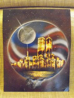 911 World Trade Spray Paint Art