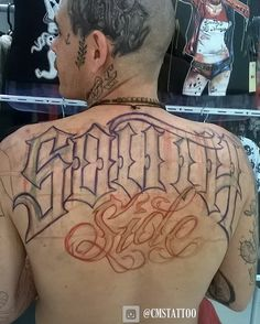 CMS Tattoo 2017 (Lettering - South Side) Escrita pesada que rabisquei no Free Hand no Brother Burunga💉 Logo posto finalizada 👊 16 Tattoo, Tattoo 2017, Tattoo Drawings, Tattoo Hand, Tattoo Sketches, Forarm Tattoos, Side Tattoos, Body Art Tattoos, Calligraphy Tattoo