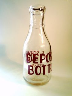 1940 One Quart Deposit Milk Bottle From E. Schwank by RocketLounge