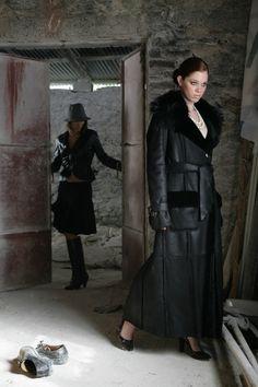 Black Shearling Coat | Shearling coats &amp jackets | Pinterest
