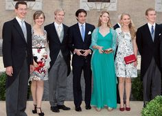 Belgian Royal Wedding: The Guests...Posted on July 6, 2014 by HatQueen....Yesterday's wedding of Prince Amedeo, Archduke of Austria-Este and Elisabetta Rosboch von Wolkenstein..........Family of Archduchess Marie Astrid, July 5, 2014 | Royal Hats