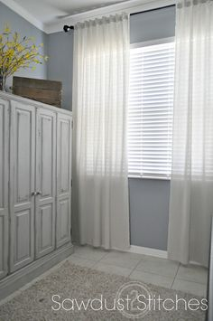 – Cheapest and Easiest Curtains, EVER! Sawdust 2 Stitches
