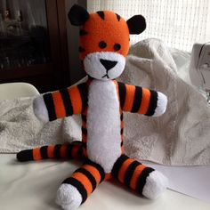 hobbes stuffed tiger (calvin and hobbes) pattern