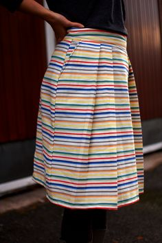 Colorful stripy skirt