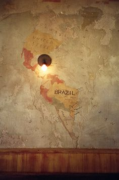 I want a map painted on the ceiling in my bedroom