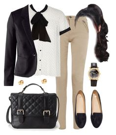 """""""Spencer Hastings inspired outfit with a black blazer"""" by liarsstyle ❤ liked on Polyvore featuring River Island, H&M, Forever 21, school, Work, Semi and WF"""