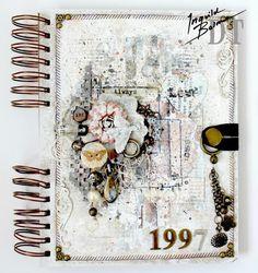 Art journal cover inspiration - http://www.startingtoscrap.blogspot.ie/search?updated-min=2013-01-01T00:00:00+11:00