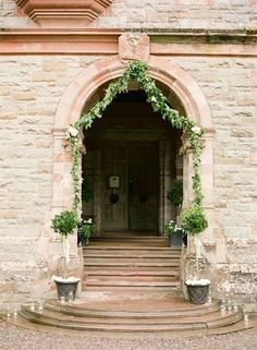 Dekoracja drzwi - girlanda