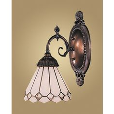 Westmore Lighting�Mix-N-Match 4.5-in W 1-Light Tiffany Bronze Tiffany-Style Arm Hardwired Wall Sconce