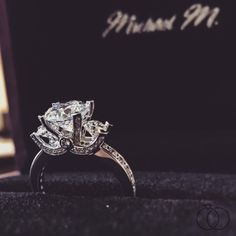Stunning at any angle, a three-stone diamond engagement ring from Michael M. will help you express all the love in your heart. Robbins Brothers Sku: 0405023