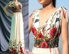 Robes longues, V profond longue maxi robe d'été parti robe d'été est une création orginale de MyParadise sur DaWanda