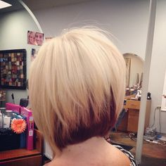 blonde bob with red under - Google Search