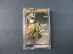 MEGADETH So Far So Good So What Cassette by RockofSages on Etsy, $8.00