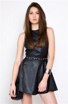 Fancy - Leather Dresses- Motel Rocks Medusa Dress- $89.99
