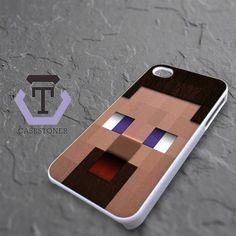 Minecraft Steve Head iPhone 4|iPhone 4S Black Case