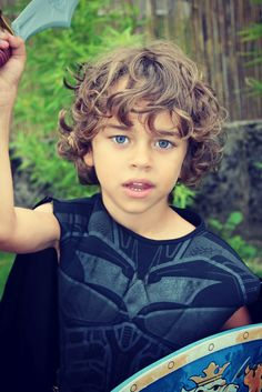 This is why I want Gavin's hair long...so cute with the curls!!!!