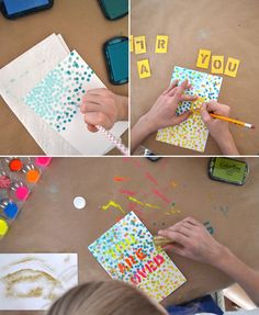 DIY Stencil Art Project with the kids Craft Kids, Diy For Kids, Crafts For Kids, Arts And Crafts, Painting Styles, Diy Painting, Fun Diy Crafts, Holiday Crafts, Kids Class