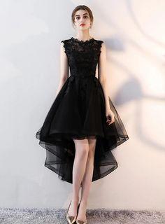 High Low Prom Dresses, Black Party Dresses, Homecoming Dresses, Short Dresses, Dress Black, Black Formal Dress Short, Teen Dresses, Spring Dresses, Tea Length Formal Dresses