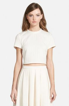 Free shipping and returns on STOREE Mock Turtleneck Crop Top at Nordstrom.com. A tonal herringbone texture lends crisp structure to an ivory crop top styled with a subtle mock turtleneck for a polished finish.