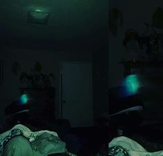 Glowing green orb In our home