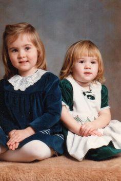 Christmas 1985 - Lindsey & Betsy