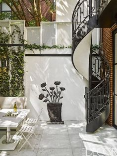 A small patio doesn't have to skimp on style, like this graceful garden patio in Greenwich Village.