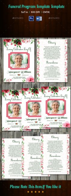 Funeral Program Brochure Template V  Brochure Template
