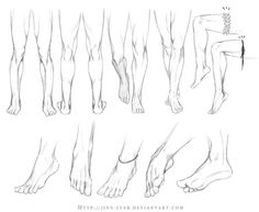 Legs and Feet Drawing Reference | Drawing References and Resources | Scoop.it