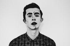 pop art halloween make-up cartoon mens