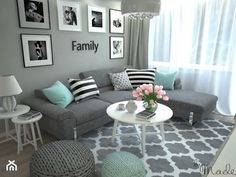 Mint Living Rooms, Living Room Turquoise, Classy Living Room, Living Room Decor Colors, Living Room Color Schemes, Living Room Grey, Living Room Interior, Room Decor Bedroom, Living Room Sofa