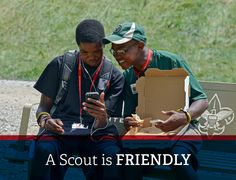 A Scout is friendly!