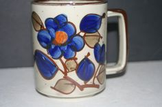 Vintage Hand Painted Stoneware MugCollectible by Castawayacres