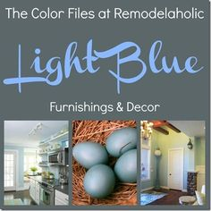 Decorate your home with one of our favorite colors! Light blue! We will show you how to use it in your home and give you ideas featured on Remodelaholic.com #lightblue #home Light Blue Paint Colors, Light Blue Paints, Best Paint Colors, Wall Paint Colors, Blue Velvet Cupcakes, Paint Color Schemes, Cool Paintings, Cool Lighting, Have Time
